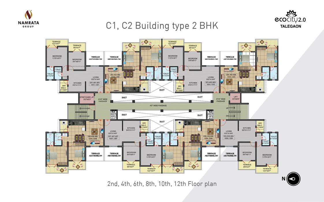 1 Bhk 2 Apartments Talegaon Eco City Building D1 D2
