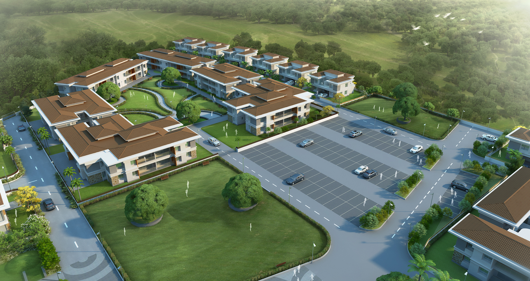 Parishreya 1 bhk 2 bhk villaments twin bungalows at for Twin bungalow plans
